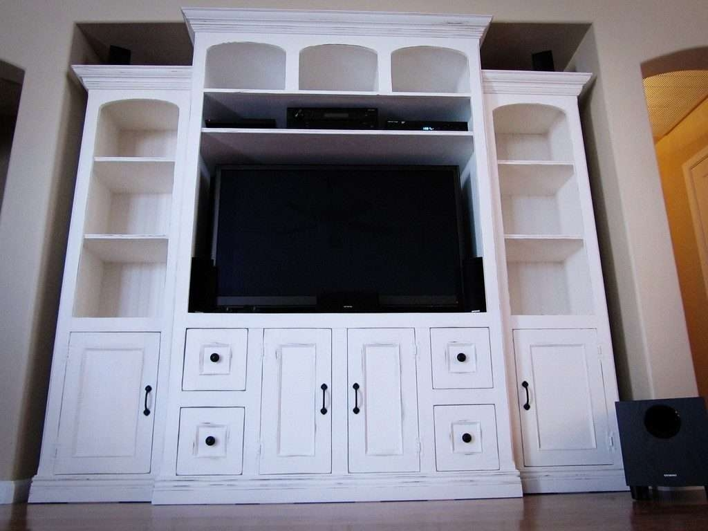 Living ~ Entertainment Center For Large Flat Screen Tv Cheap White With Regard To Funky Tv Stands (View 15 of 15)