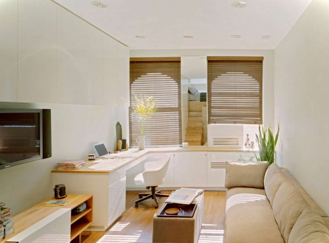 Living ~ Interesting Furniture Brown And White Color Unit Cabinet Regarding Long White Tv Stands (View 15 of 15)