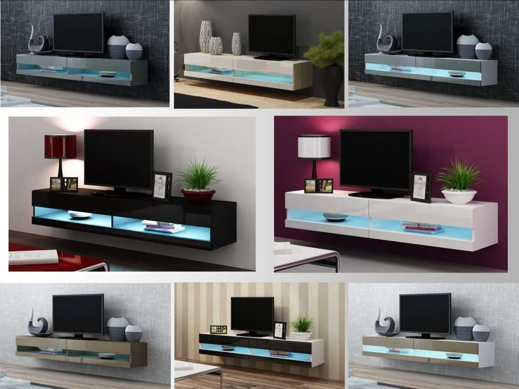 Living ~ Latest Design Modern Corner Tv Cabinet Led Wall Mount Tv In Modern Wall Mount Tv Stands (View 11 of 15)