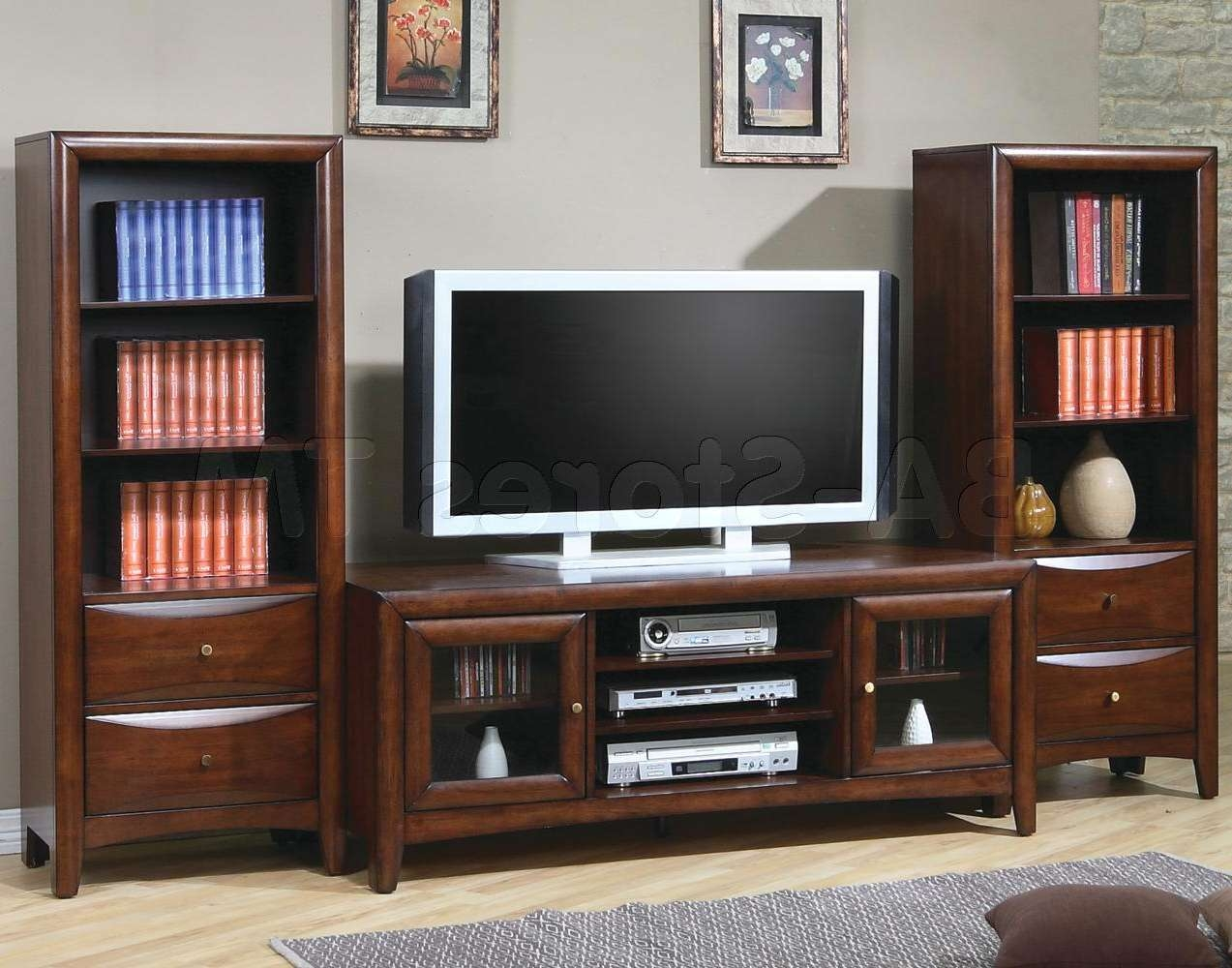 Living ~ Led Tv Furniture Design 55 In Tv Stand Small Tv Unit For With Tv Stands With Bookcases (View 5 of 15)