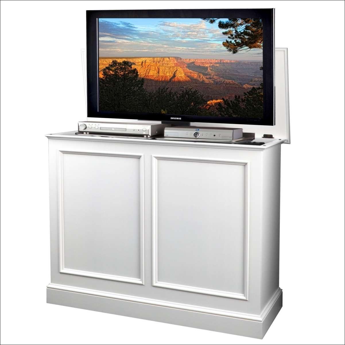 Living Room : Marvelous Under Bed Tv Lift Mechanism Hidden Tv Lift Inside Pop Up Tv Stands (View 18 of 20)