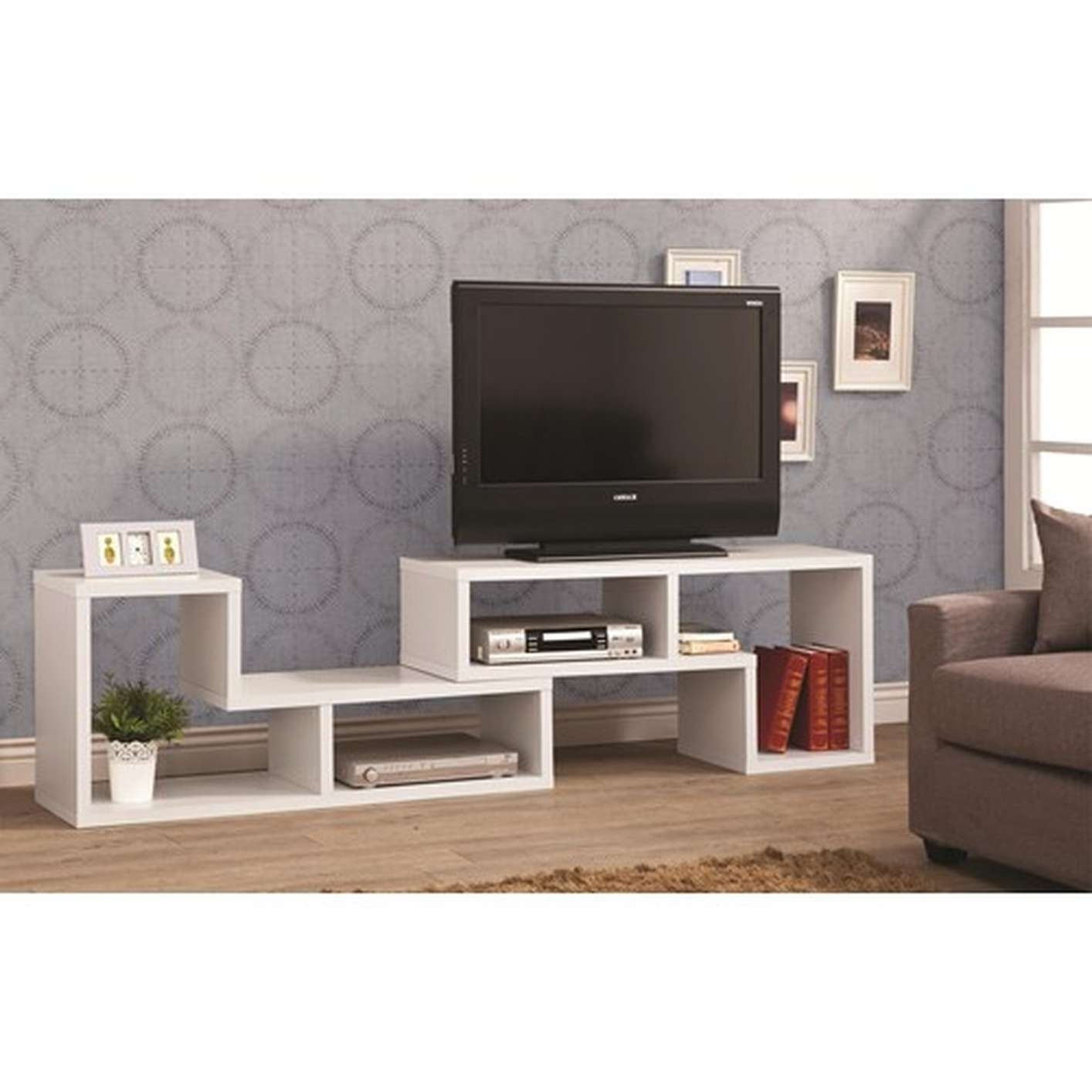 Living Room : Styled Modern Tv Stand In Orange And Black Finishing Intended For Hardwood Tv Stands (View 7 of 15)