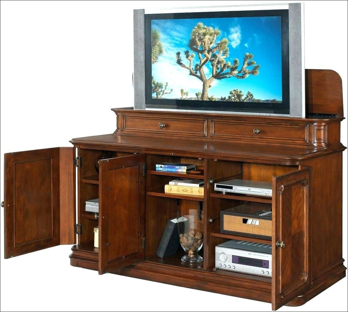 Living Room : Wonderful Drop Down Tv Stand Pop Up Tv Table End Of Within Pop Up Tv Stands (View 11 of 20)