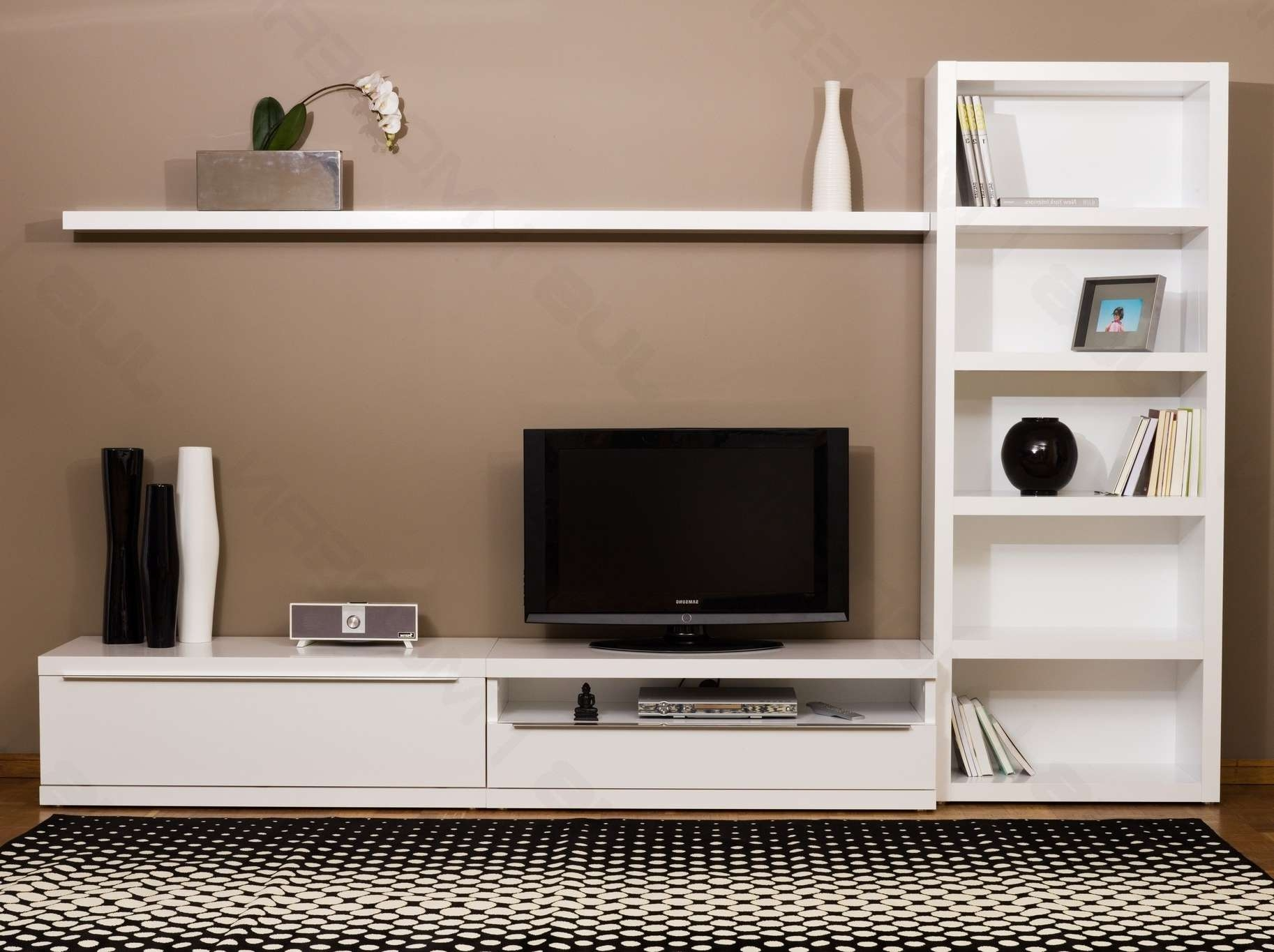 Living ~ Tv Stands For White Wood Tv Stand Bedroom Tv Unit Design For Modular Tv Stands Furniture (View 5 of 15)