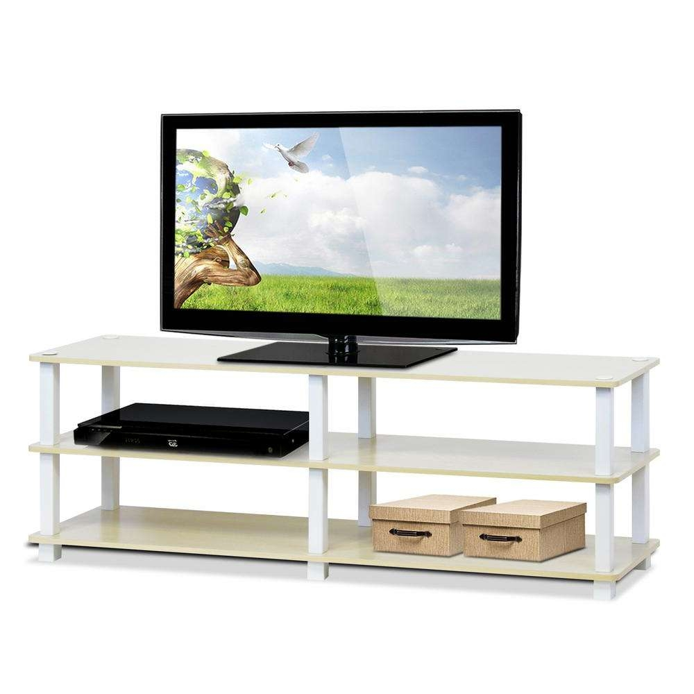 Llytech Inc Turn S Tube Steam Beech 3 Shelf Tv Stand Tv14038sbe/wh With Beech Tv Stands (View 6 of 15)