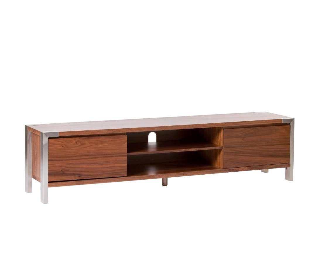 Long Low Profile Media Console Table With Stainless Steel Legs And Regarding Long Low Tv Stands (View 13 of 15)