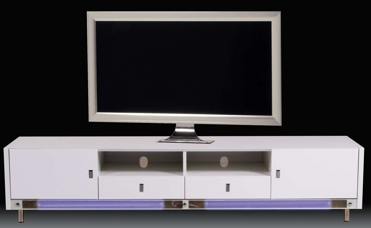 Long Modern Low Profile Media Console Table With Storage And Intended For Modern Low Profile Tv Stands (View 17 of 20)