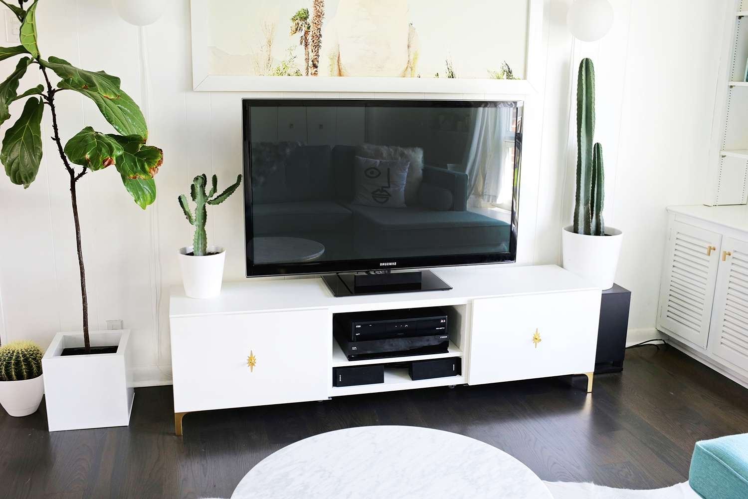 Long White Tv Cabinet | Izfurniture Throughout Long White Tv Stands (View 11 of 15)