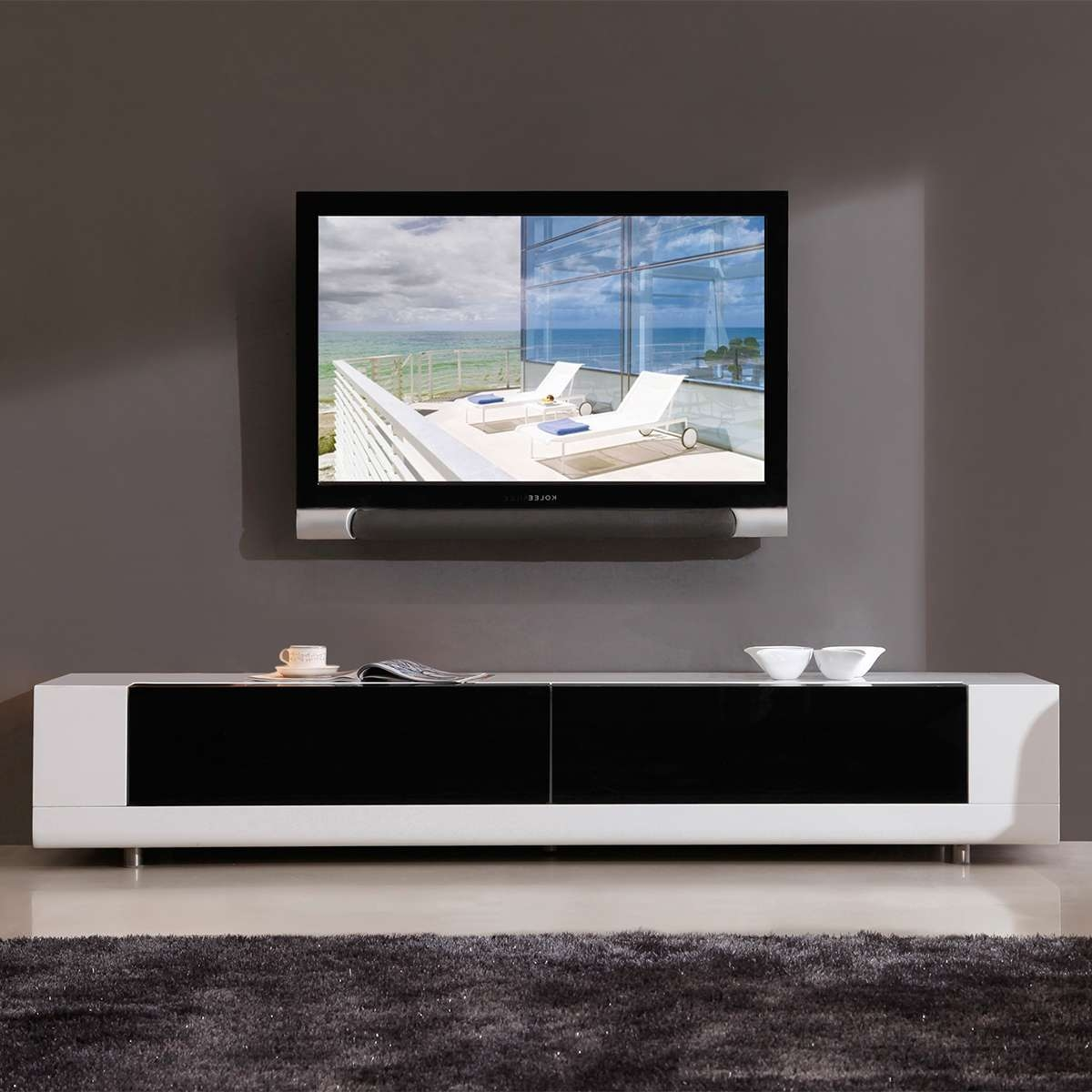 Low Profile Tv Stand 60 Inch Oaklow Profile Tv Stand With Drawers Within Modern Low Profile Tv Stands (View 10 of 20)