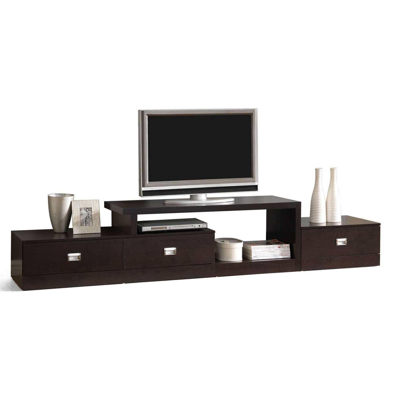 Low Tv Stand With Color White Tv Stand And Several Drawers And Add Regarding Modern Low Tv Stands (View 11 of 20)