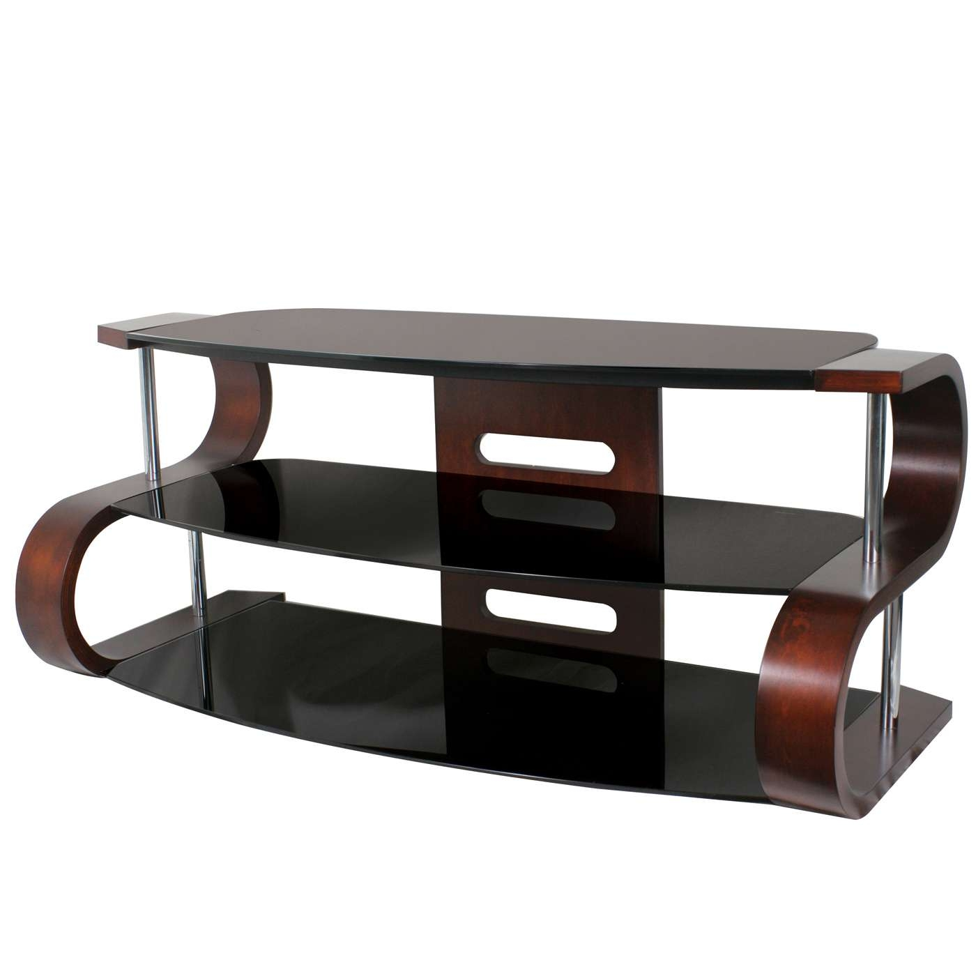 Lumisource Tv Sw Ts 120 Metro Series 120 Tv Stand | Lowe's Canada Within Modern Glass Tv Stands (View 9 of 15)