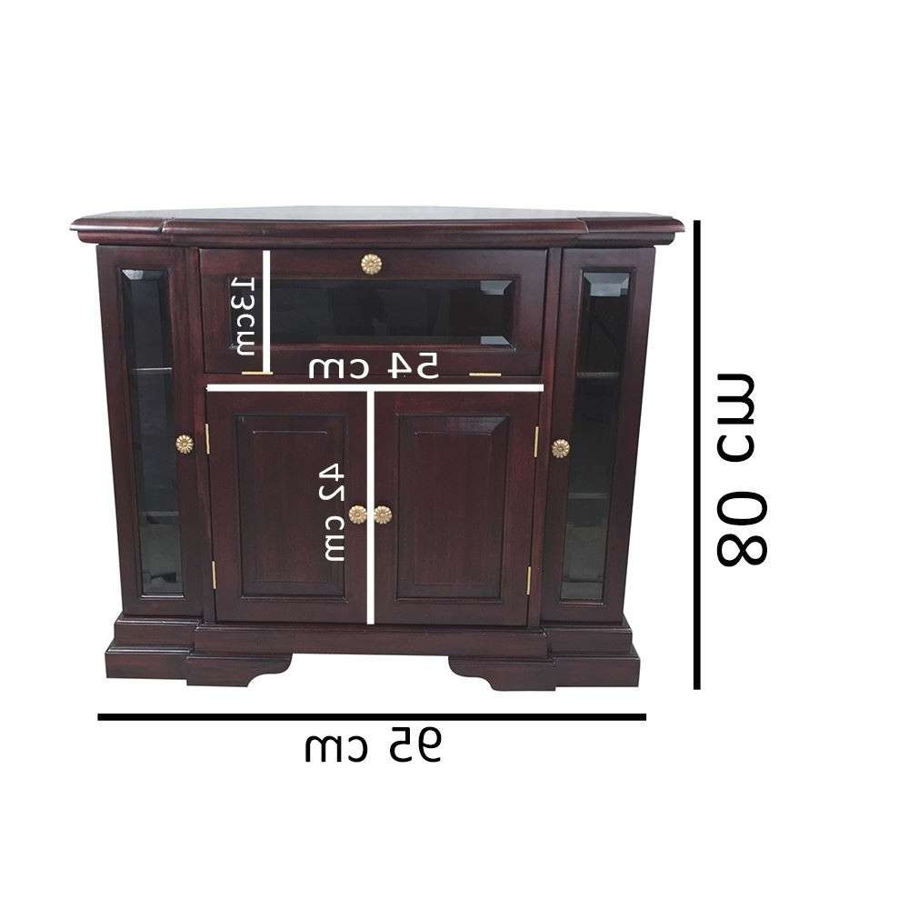 Mahogany Wood Corner Tv Stand / Cabinet – Antique Reproduction Design In Wooden Corner Tv Cabinets (View 13 of 20)