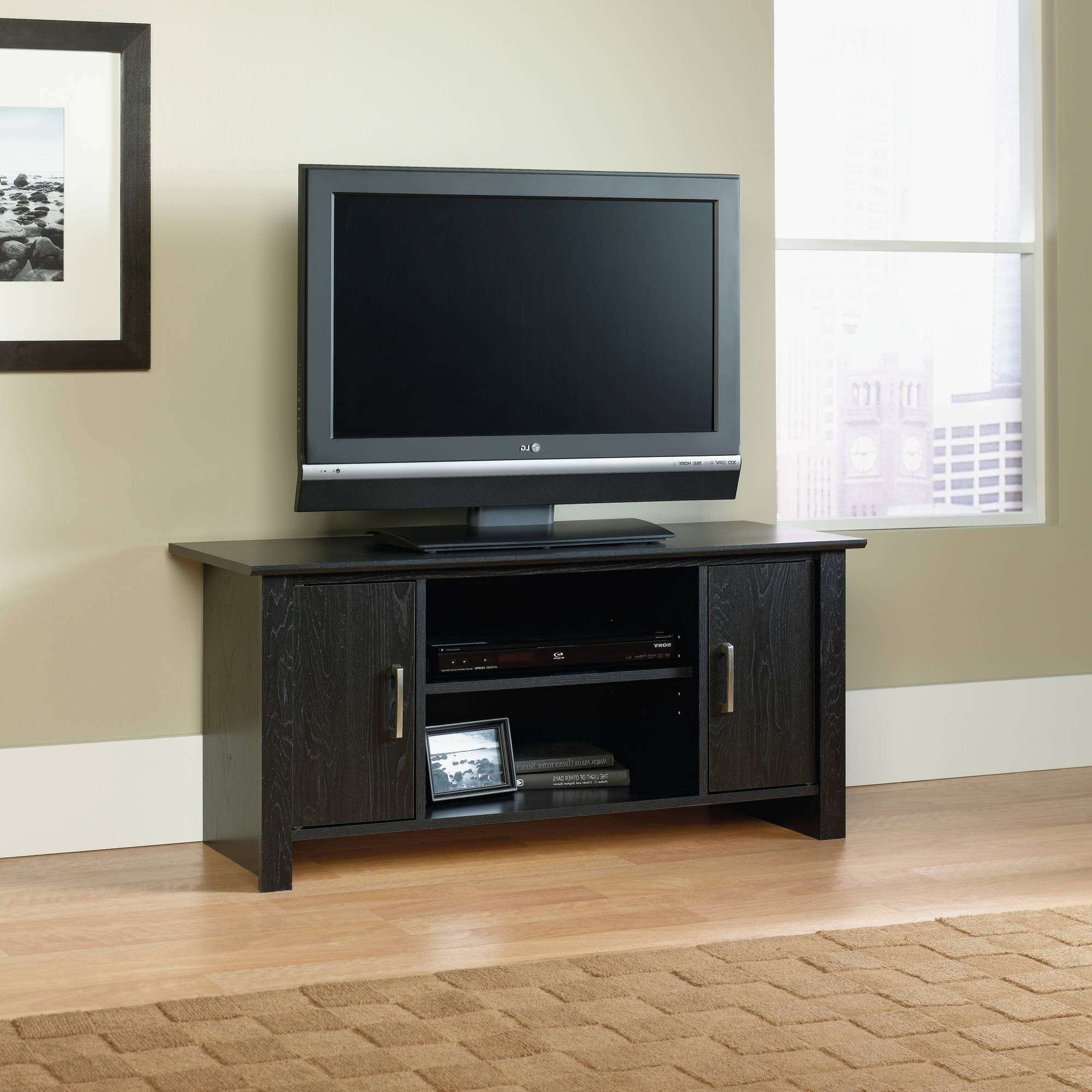 "Mainstays Tv Stand For Flat Screen Tvs Up To 47"", Multiple Finish For Light Oak Tv Stands Flat Screen (View 7 of 15)"