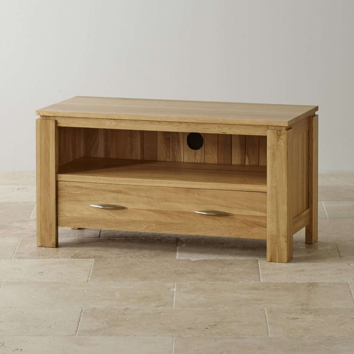 Majestic Rustic Solid Oak Extra Large Tv Stand Plasma Tv Cabinet With Regard To Small Oak Tv Cabinets (View 6 of 20)