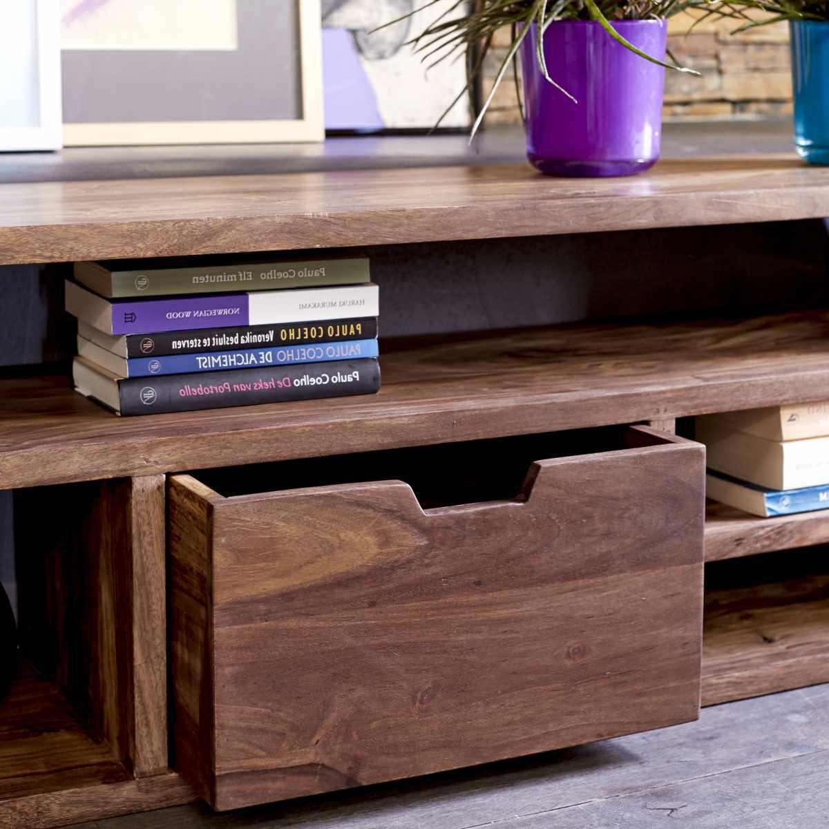 Mango Wood Tv Stand: The Natural Appeal — Bitdigest Design Within Sheesham Wood Tv Stands (View 10 of 15)
