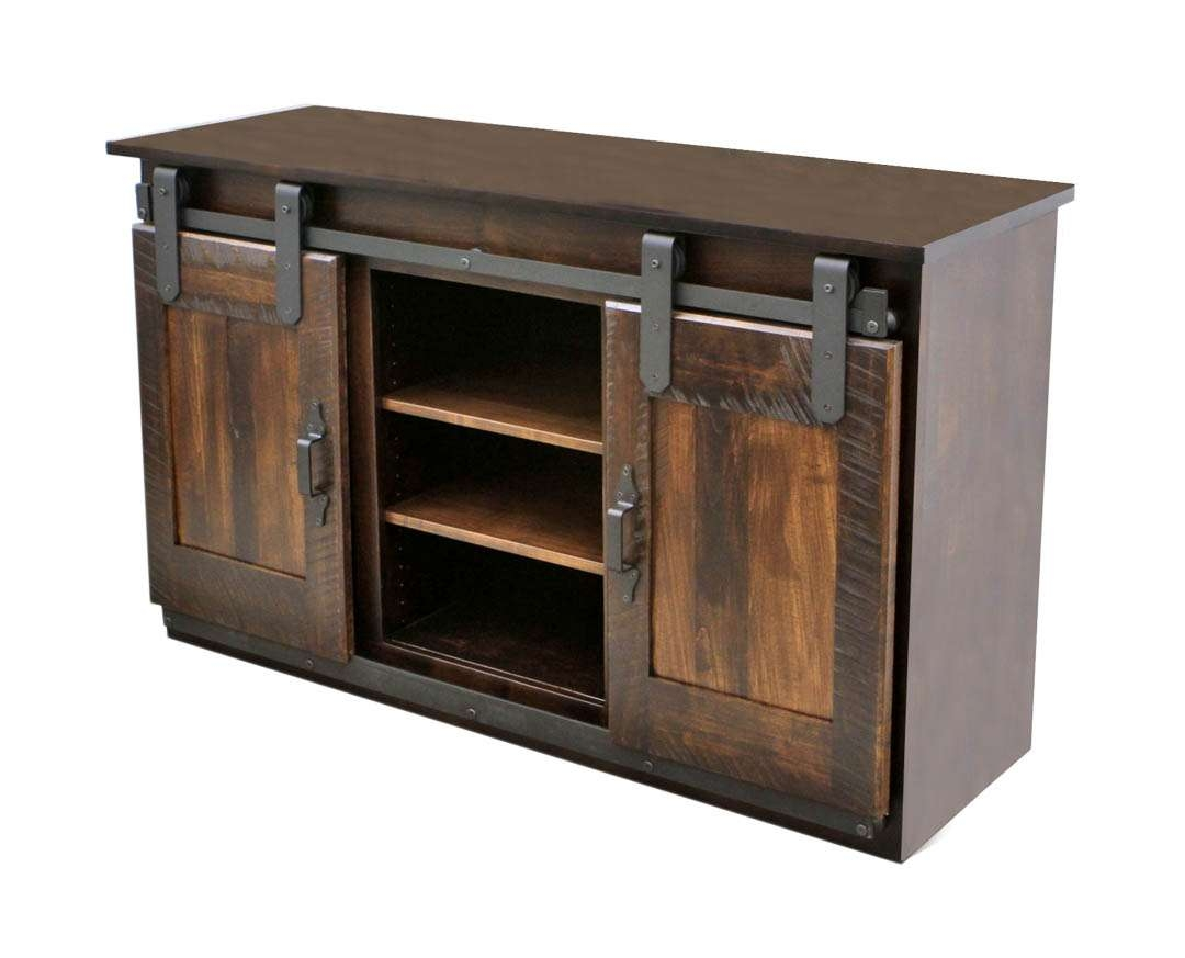 Maple Sliding Barn Door Tv Stand | Dutch Craft Furniture With Regard To Maple Tv Stands (View 18 of 20)