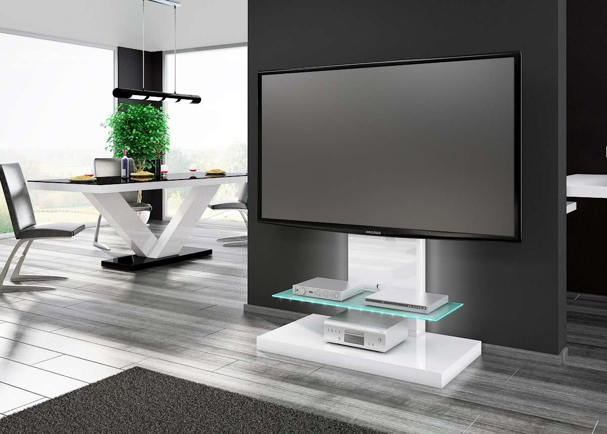 Featured Photo of White High Gloss Corner Tv Stands
