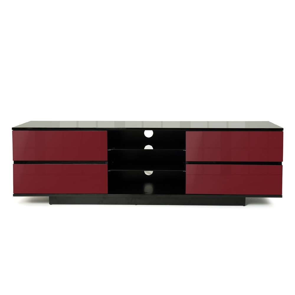 Mda Designs Avitus 1600 Black & Red Tv Stand Regarding Black And Red Tv Stands (View 7 of 15)