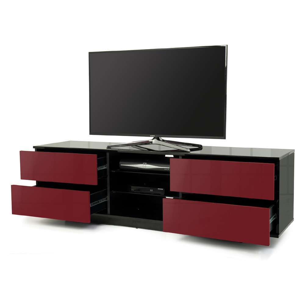Mda Designs Avitus 1600 Black & Red Tv Stand With Black And Red Tv Stands (View 8 of 15)
