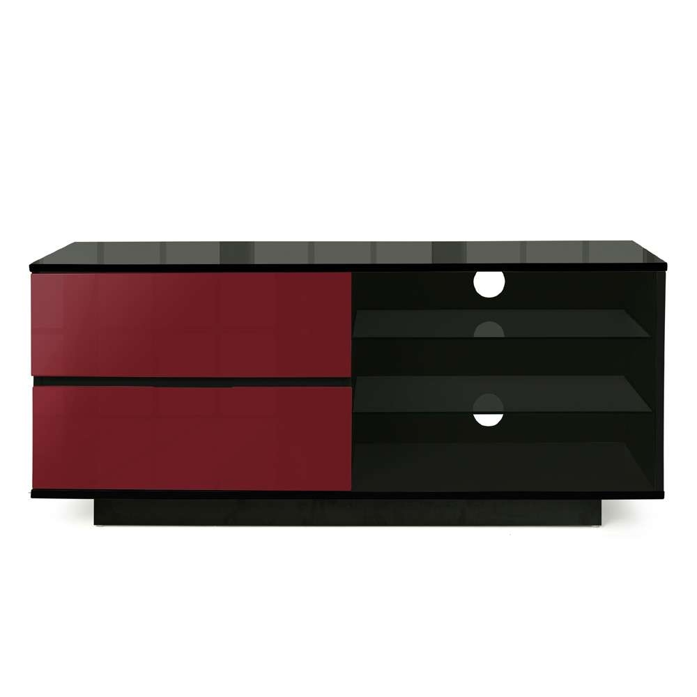 Mda Designs Gallus 1100 Black & Red Tv Stand Regarding Black And Red Tv Stands (View 15 of 15)