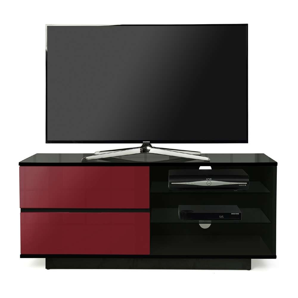 Mda Designs Gallus 1100 Black & Red Tv Stand Regarding Black And Red Tv Stands (View 2 of 15)