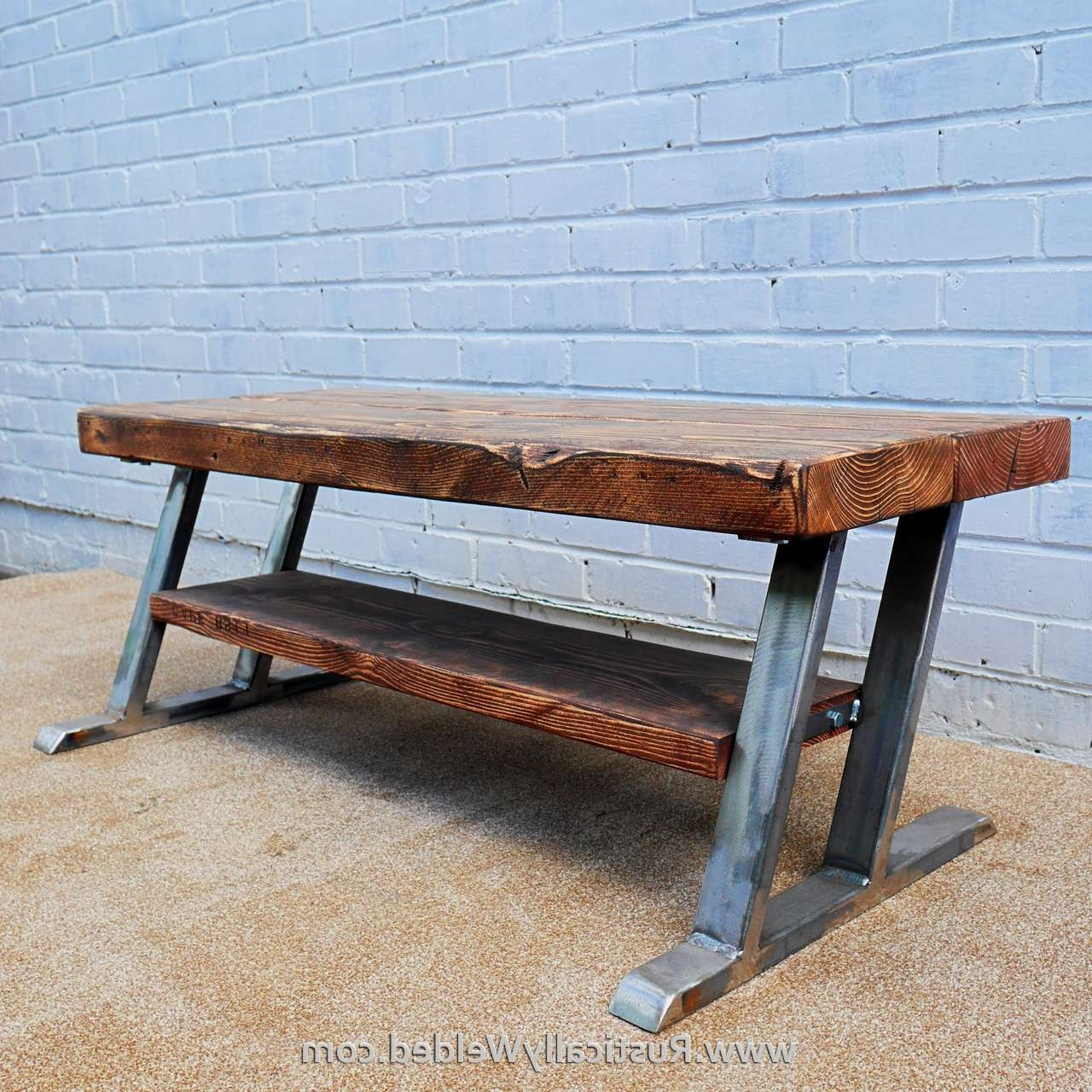 Metal And Wood Tv Stand – Rustically Welded Custom Made Furniture Pertaining To Metal And Wood Tv Stands (View 7 of 15)