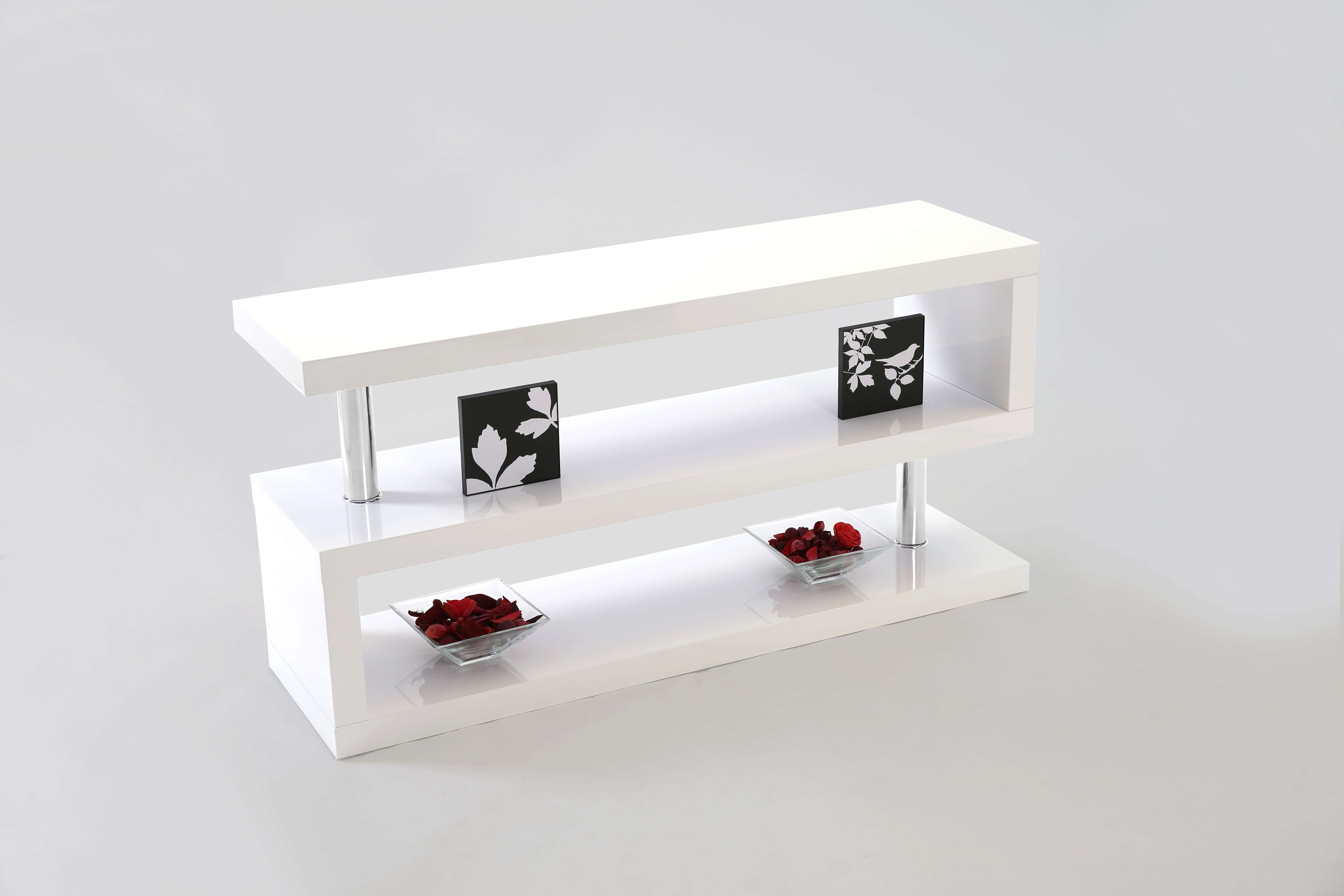 Miami White Gloss Contemporary Tv Unit Stand Media Unit Living Intended For White Gloss Tv Stands (View 7 of 15)