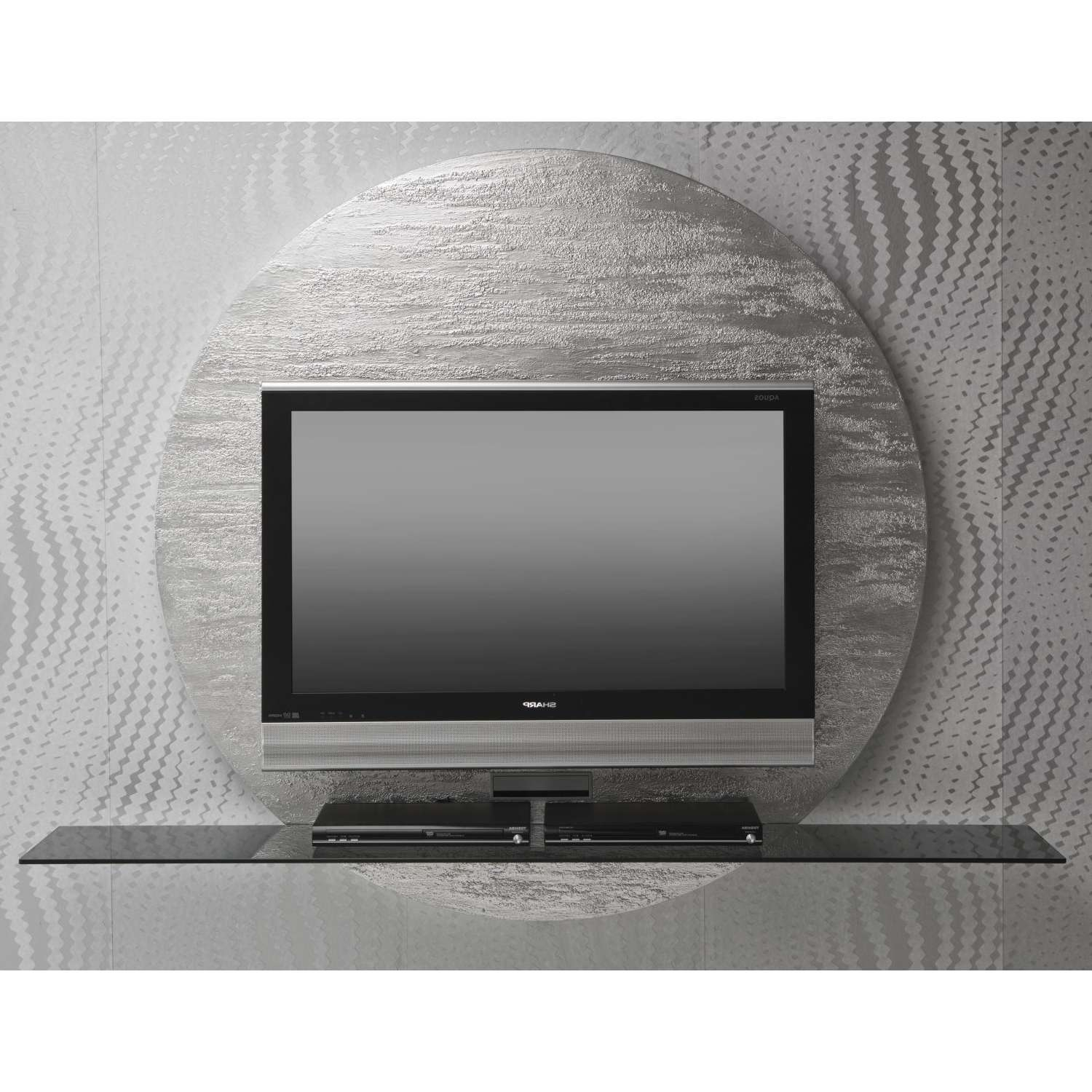 Miki Wall Round Tv Stand – Arredaclick Within Round Tv Stands (View 15 of 15)