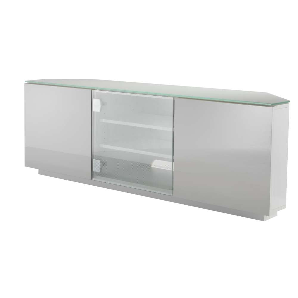 Milan White Gloss Corner T (View 6 of 15)