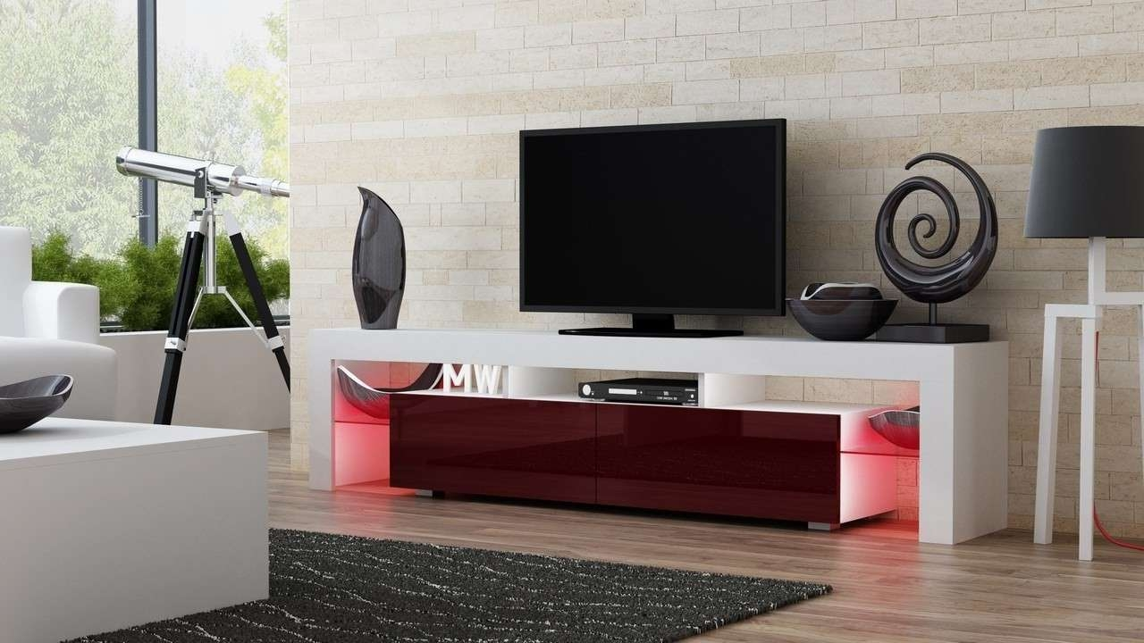 Milano 200 Width White Modern Tv Stand – Tv Units – Living Room Pertaining To Milano Tv Stands (View 4 of 20)
