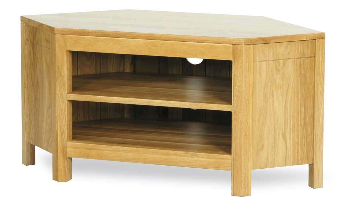 Milano Oak Low Corner Tv Unit | Furniture Plus Online Intended For Low Corner Tv Cabinets (View 12 of 20)