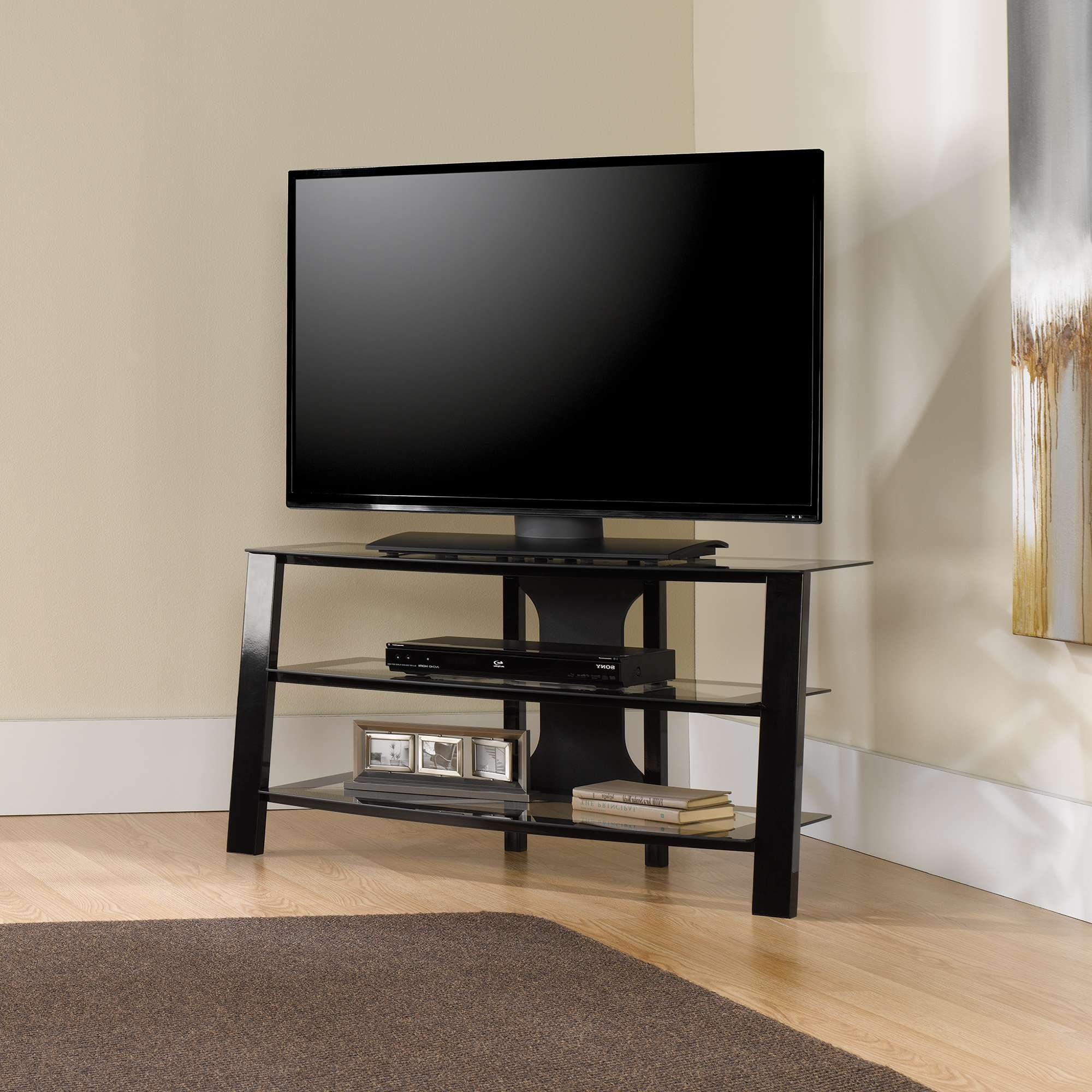 Mirage | Panel Tv Stand | 412067 | Sauder Pertaining To Light Brown Tv Stands (View 8 of 20)