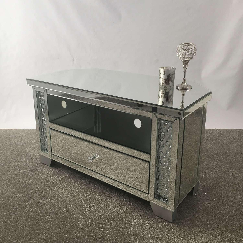 Mirror : Venetian Mirrored Corner Tv Stand Mirrored Corner Tv With Silver Corner Tv Stands (View 3 of 15)