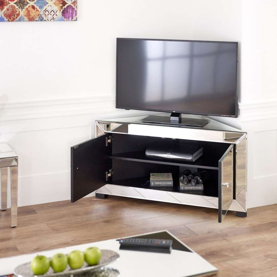 Mirrored Tv Cabinet Furnitures Mirrored Corner Tv Cabinet Inside Mirrored Tv Cabinets (View 10 of 20)