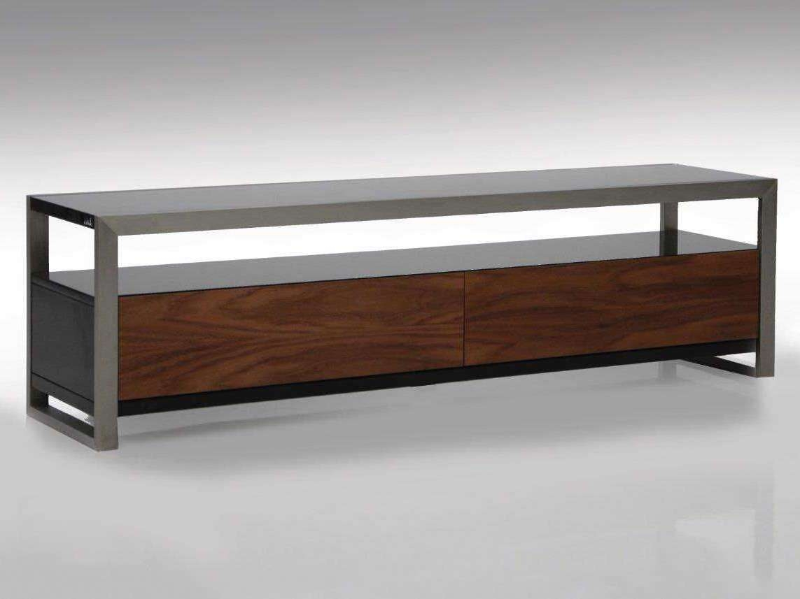 Mobital Brando 63 X 16 Rectangular Black/walnut Tv Stand In Rectangular Tv Stands (View 8 of 15)