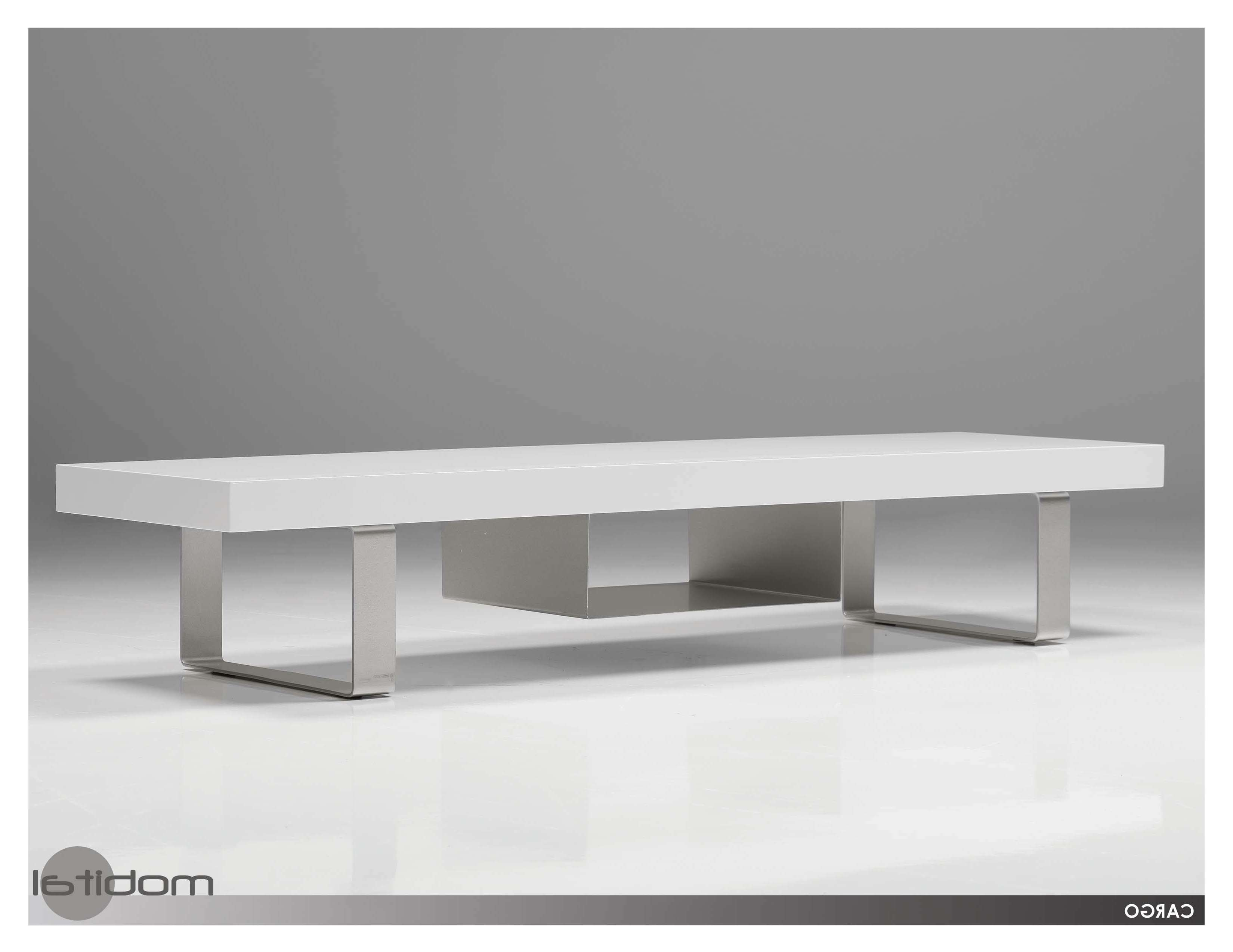 Mobital Cargo Modern White Tv Stand Modern Furnishings With Regard To Contemporary White Tv Stands (View 7 of 15)