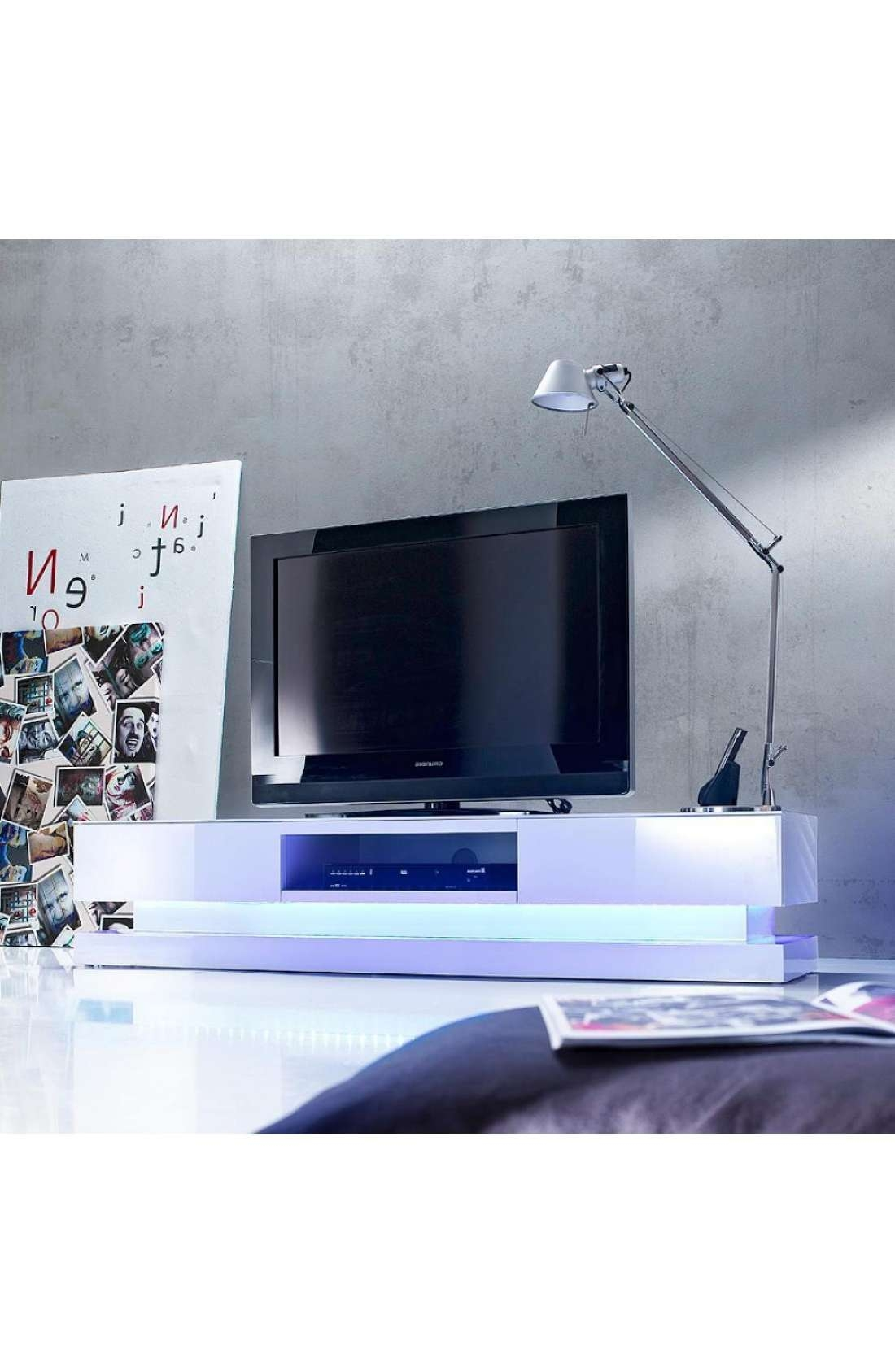 Modanuvo Modern White High Gloss Tv Unit Cabinet Stand Lowboard Intended For White Gloss Tv Stands (View 9 of 15)