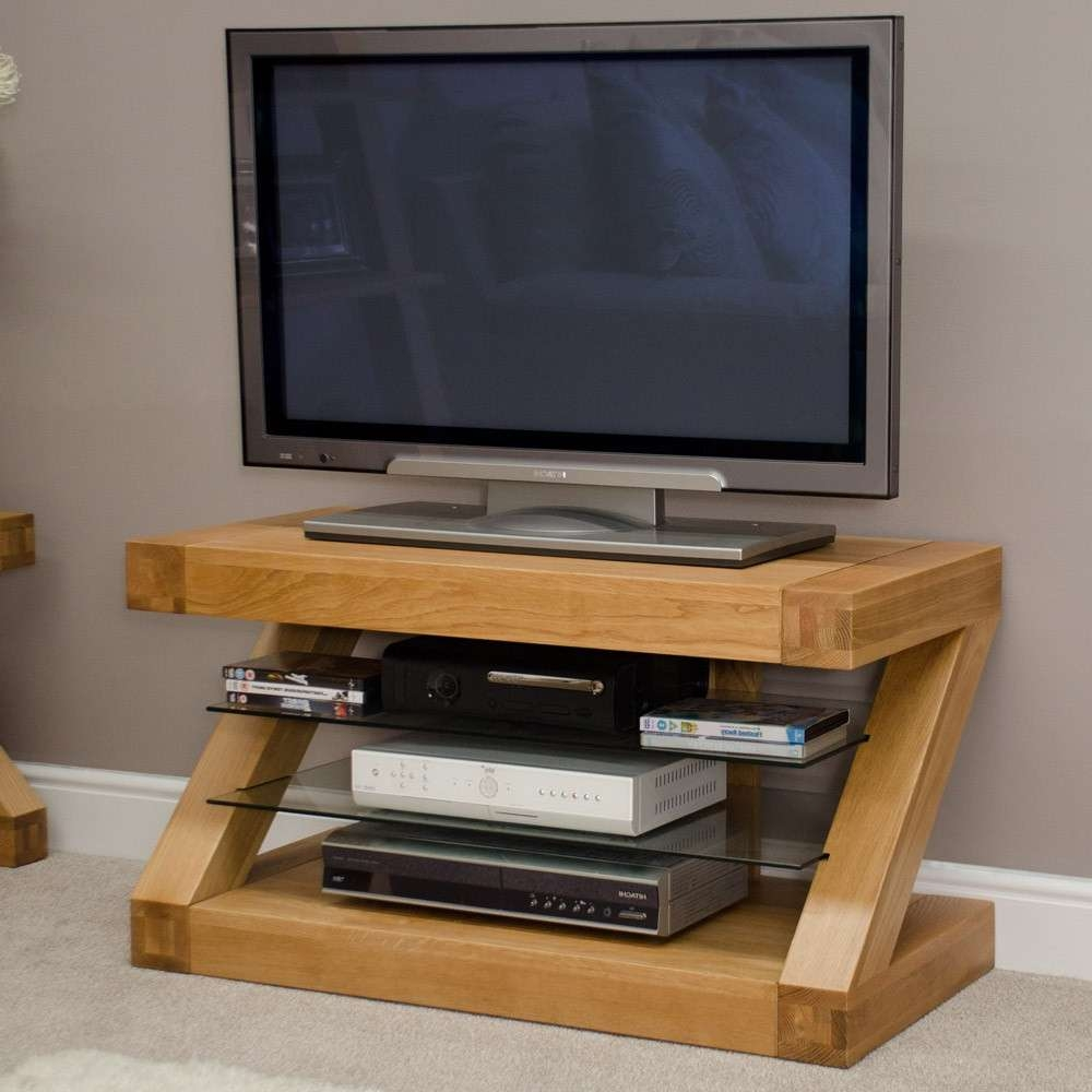 Modern Glass Furniture Tv Stand Style Interior In Glass Furniture Throughout Contemporary Oak Tv Stands (View 5 of 15)