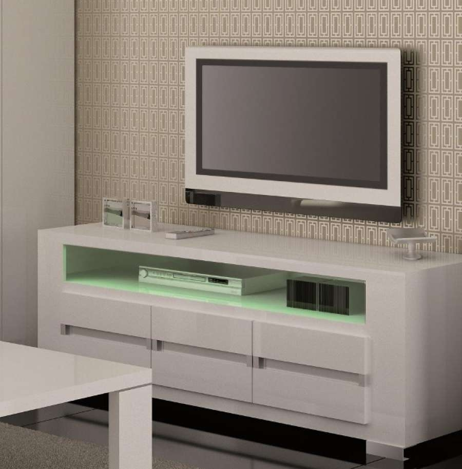 Featured Photo of White Gloss Tv Stands With Drawers
