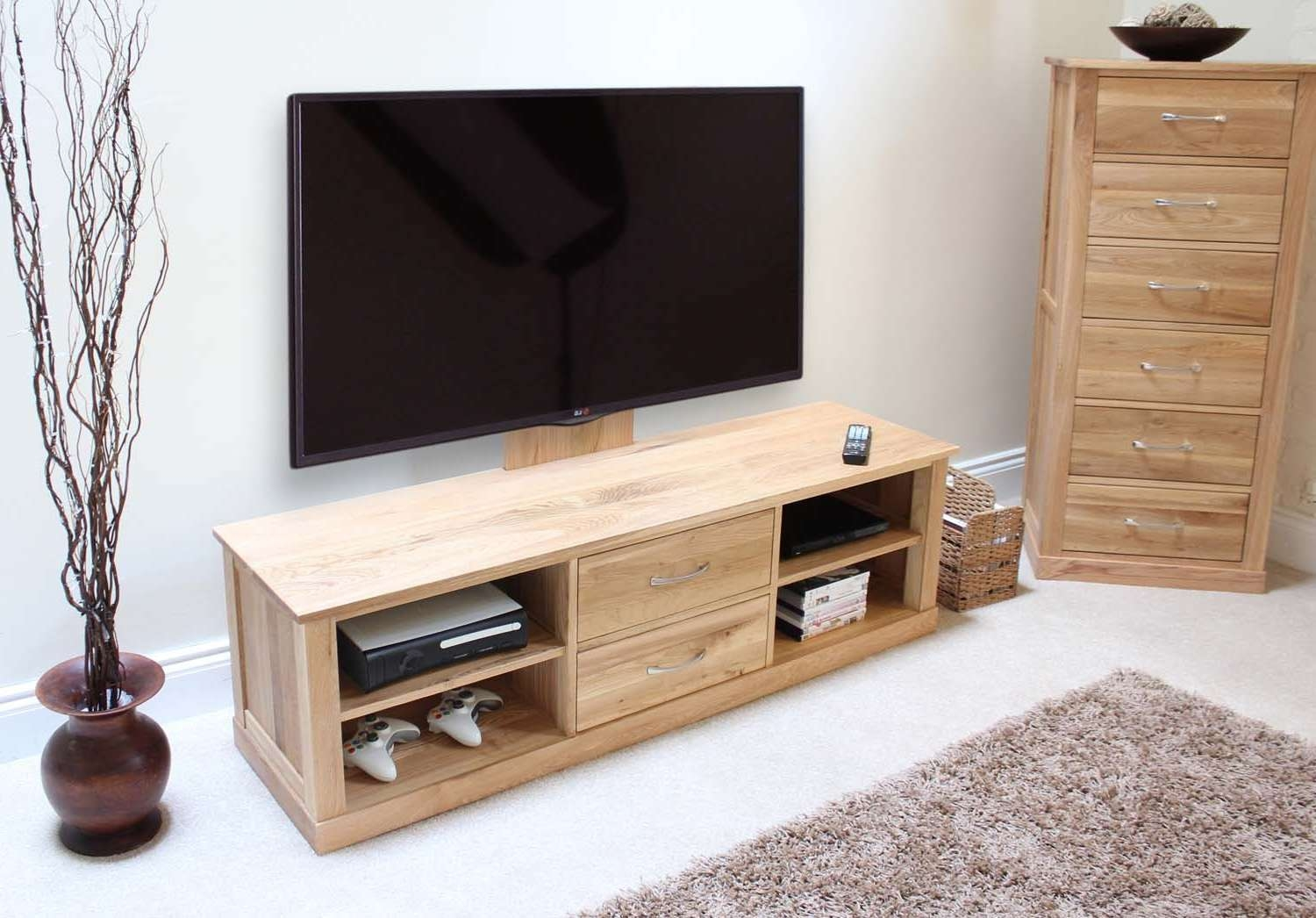 Modern Light Oak Tv Units | Solid Oak Furniture Online – Zurleys Uk Throughout Light Oak Tv Cabinets (View 18 of 20)
