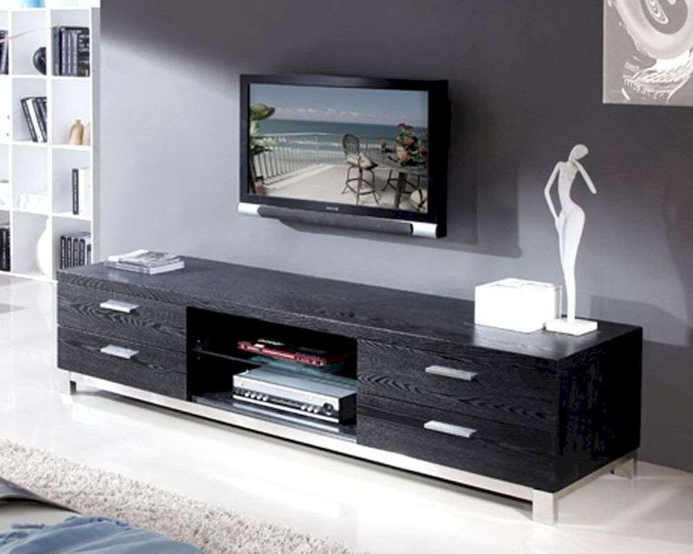 Modern Tv Media Consoles With Black Storage Cabinet Furniture And Intended For Long Tv Cabinets Furniture (View 17 of 20)