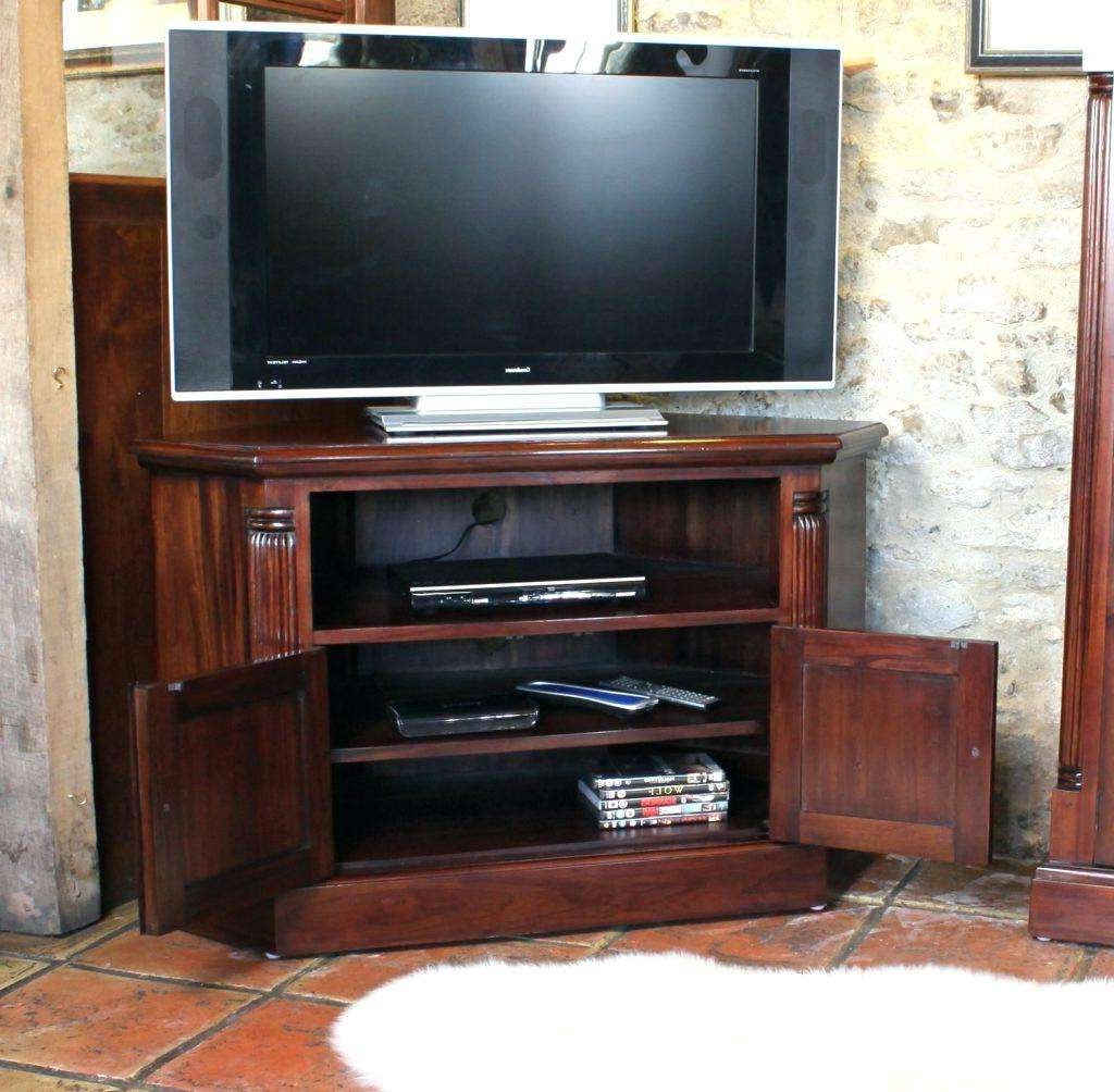 Modern Tv Stand Media Storage Cabinet Black White With Glass Doors In Lockable Tv Stands (View 2 of 20)