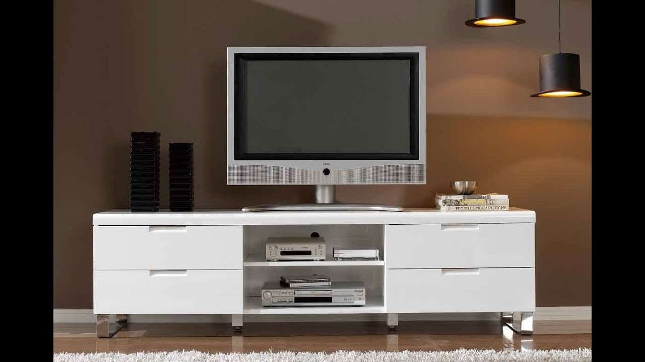 Modern Tv Stands For Flat Screens – Youtube In Modern Tv Stands For Flat Screens (View 11 of 15)