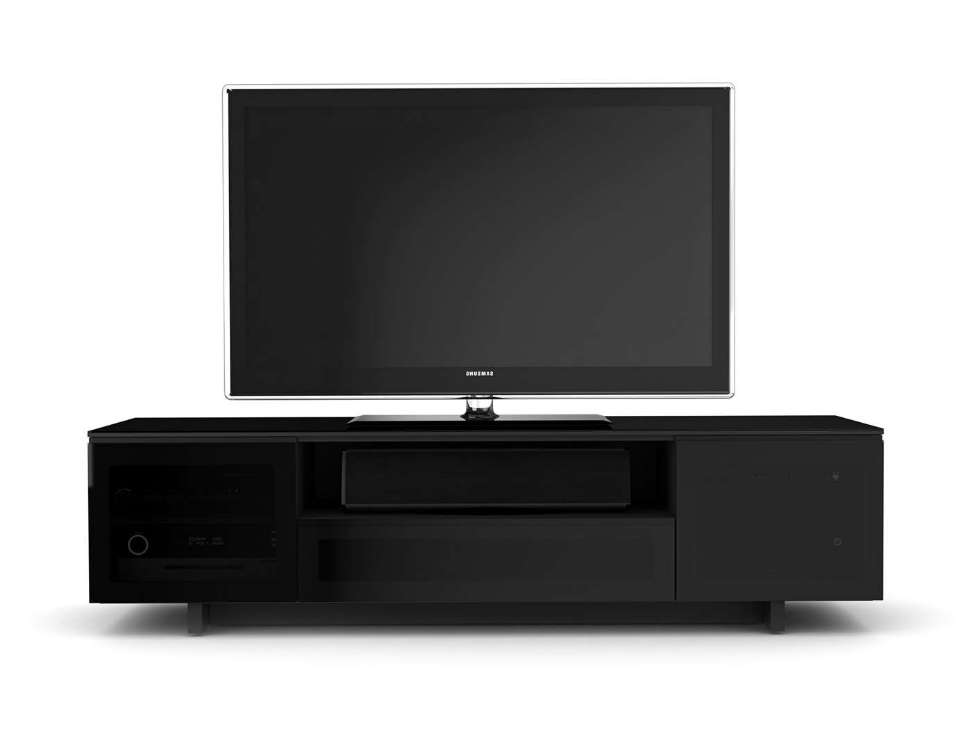 Modern Tv Stands Stylishly Fit With Contemporary Decor With Black Modern Tv Stands (View 13 of 15)