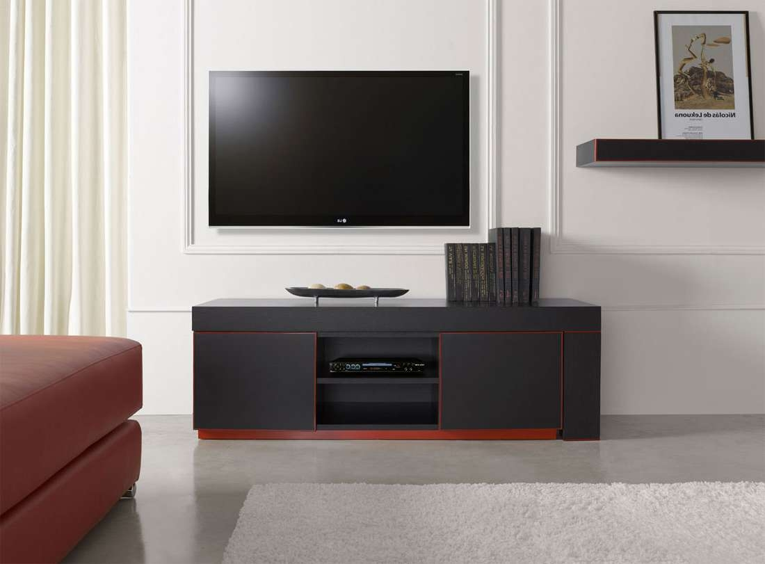 Modern Tv Stands With Red Accent For Black And Red Tv Stands (View 11 of 15)