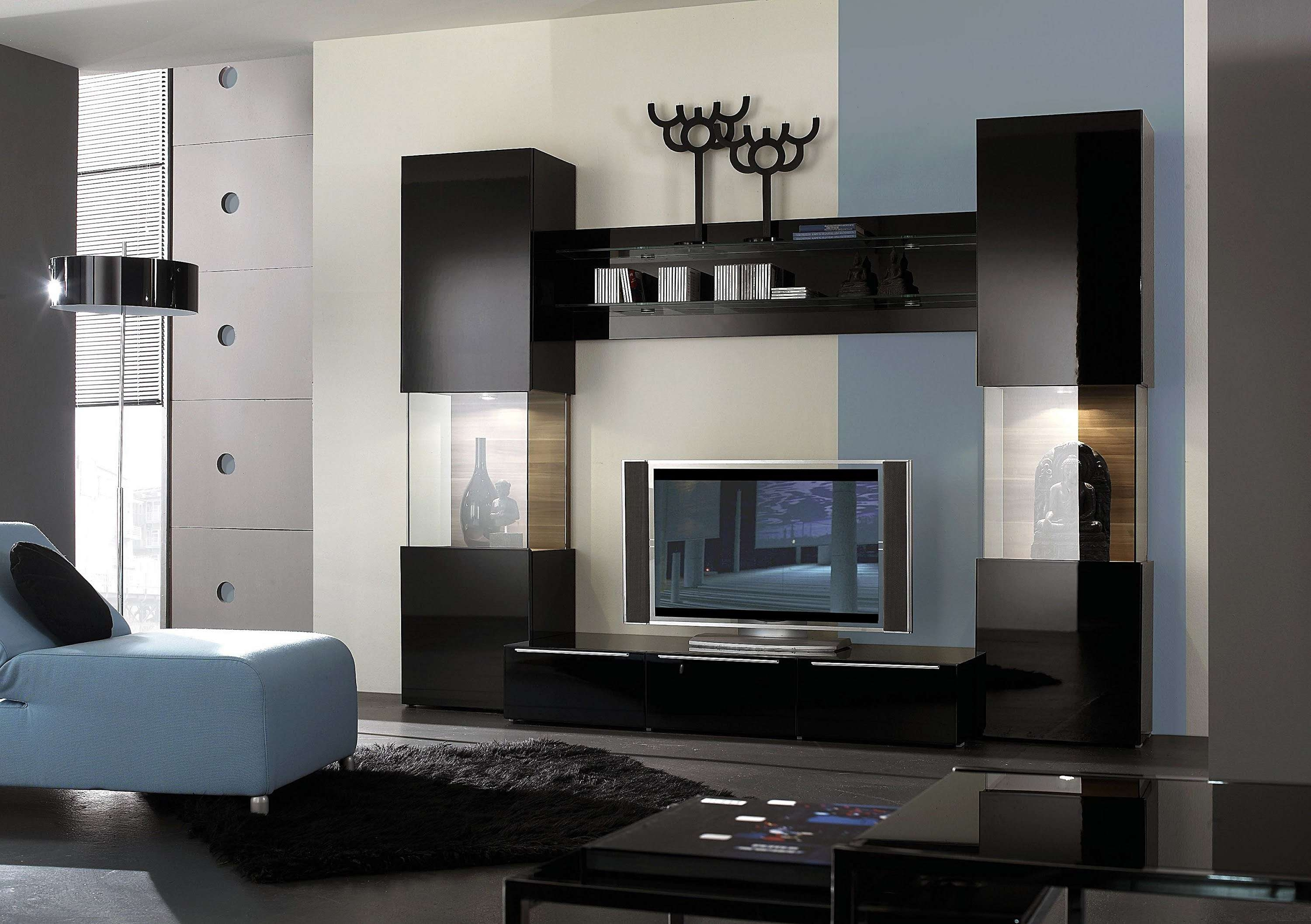 Modern Tv Unit Design Ideas For Bedroom Living Room With Pictures With Modern Tv Cabinets Designs (View 6 of 20)