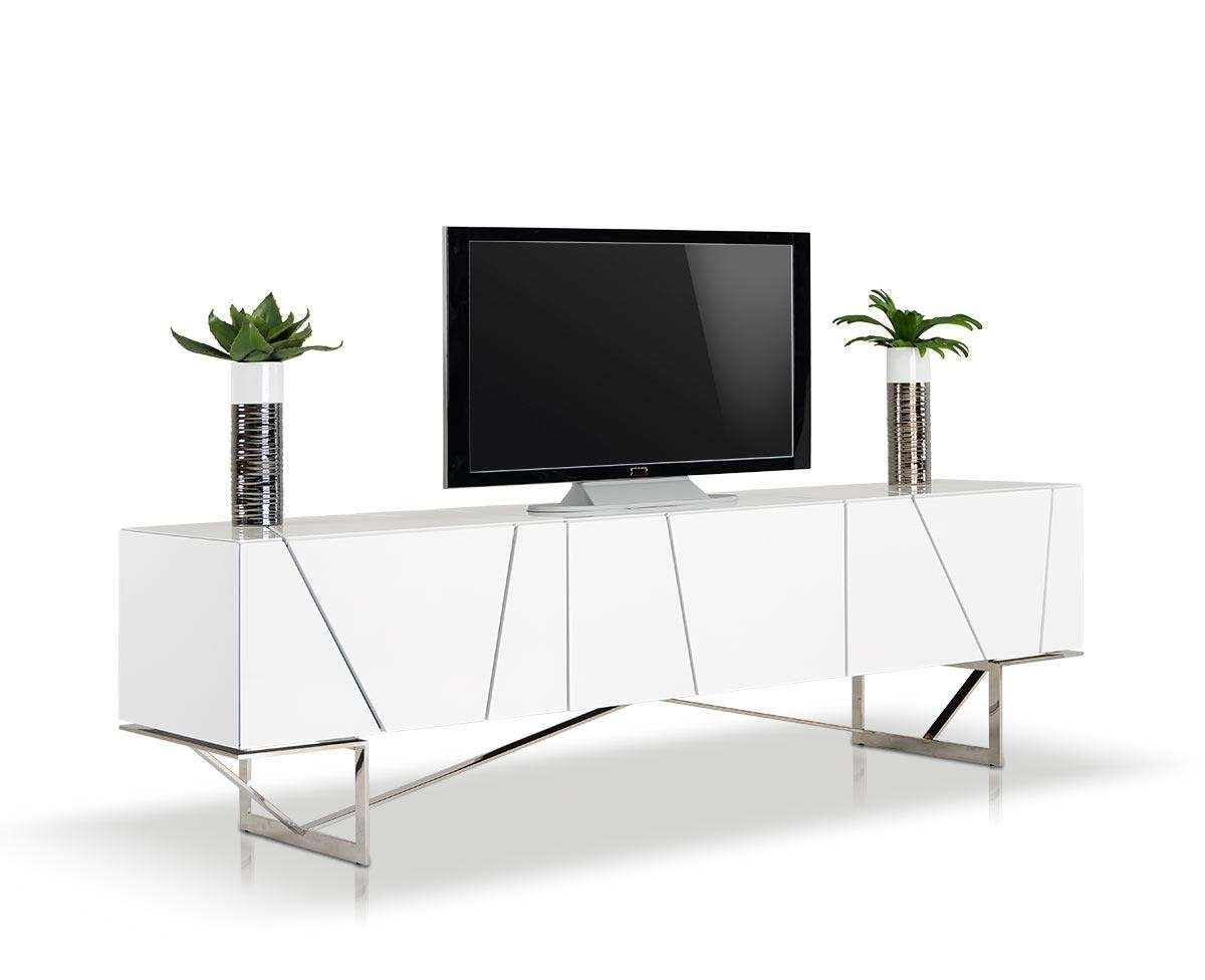 Modern White Tv Stand Inside White Modern Tv Stands (View 10 of 15)