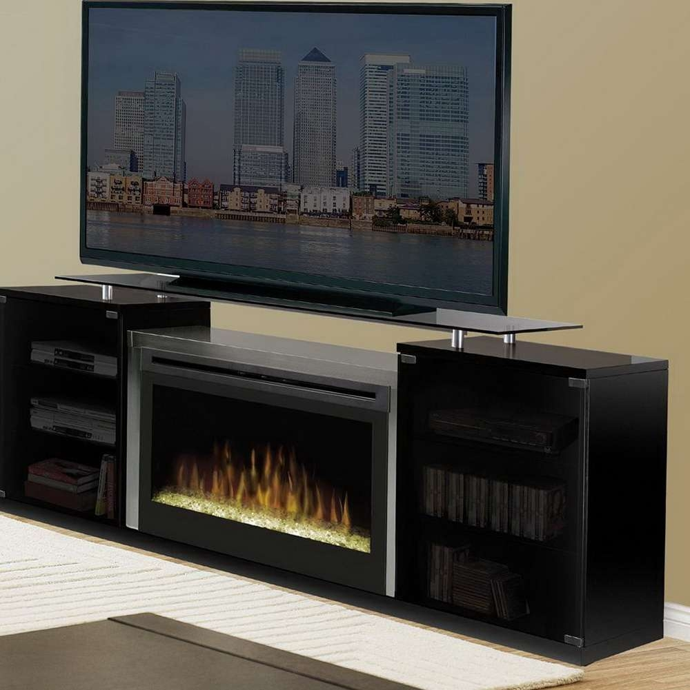 Modish Media Console Electric Fireplace Also Espresso Unit Throughout 50 Inch Fireplace Tv Stands (View 2 of 15)