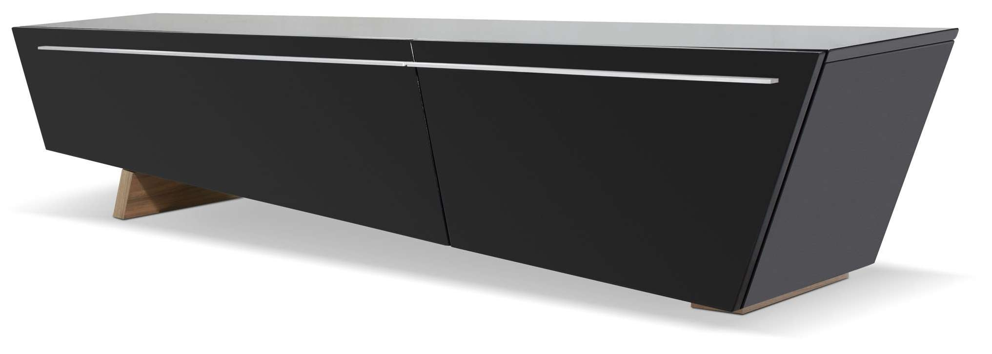 Modrest Barbara Contemporary Black Tv Stand Pertaining To Modern Black Tv Stands (View 14 of 20)