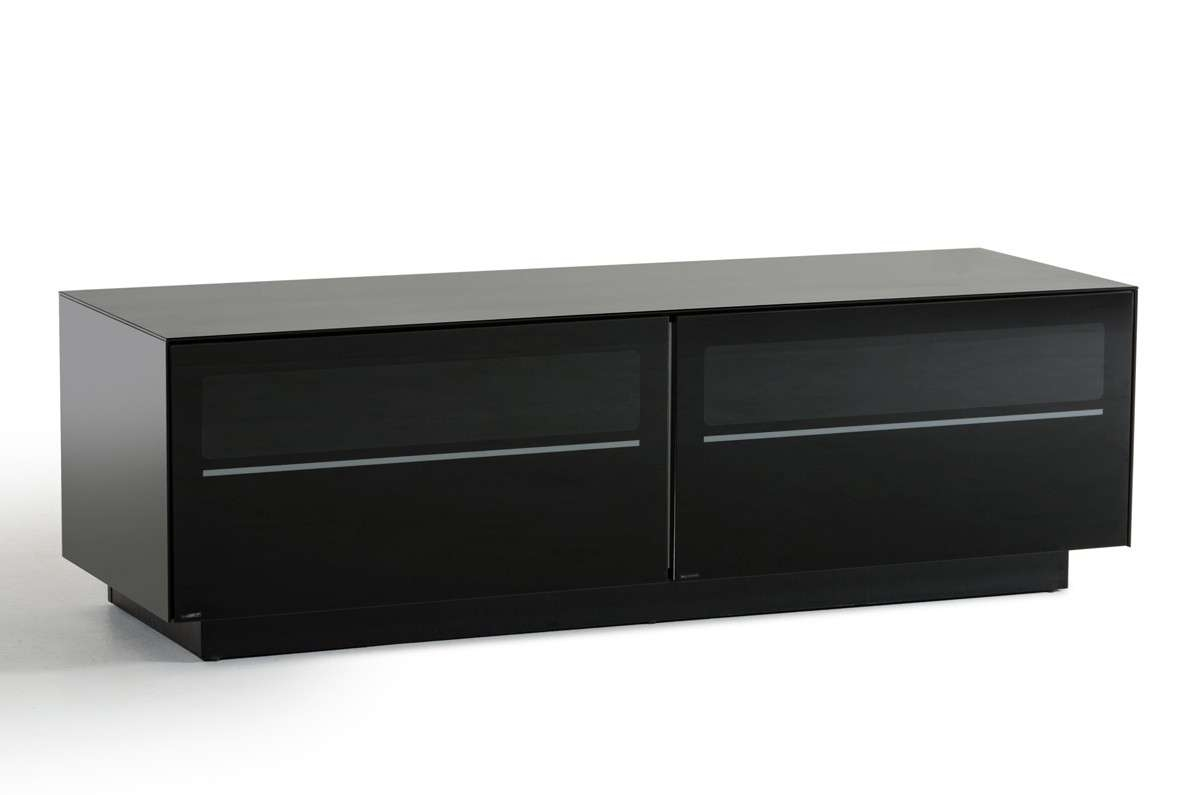 Modrest Carter Contemporary Black Tv Stand – Entertainment Centers For Modern Black Tv Stands (View 15 of 20)